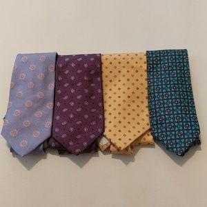 "Four ""346"" Brooks Brothers pure silk ties"